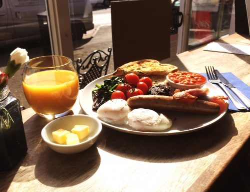 Full English at Bessie's (meaty/veggie/vegan)